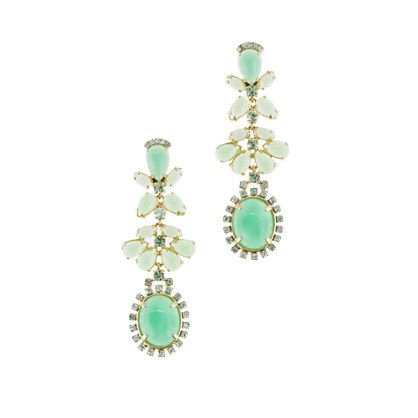 These JCrew Cabochon fan earrings would look so great with the JCrew Collection Italian Wool Dress