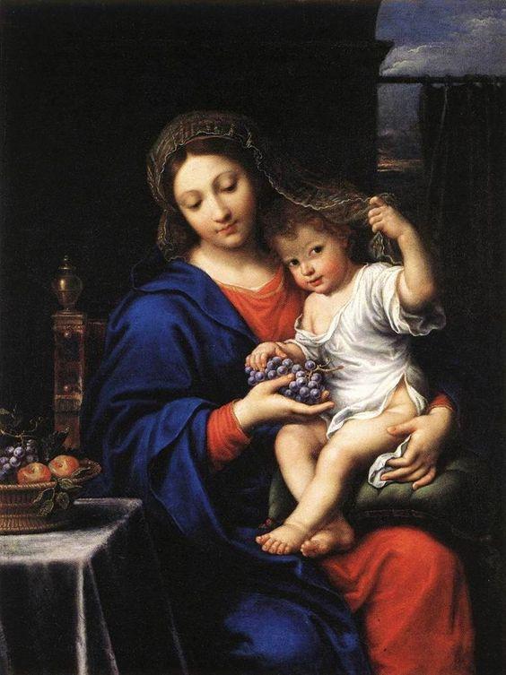 La vierge aux raisins, 1640. ✏✏✏✏✏✏✏✏✏✏✏✏✏✏✏✏ IDEE CADEAU / CUTE GIFT IDEA  ☞ http://gabyfeeriefr.tumblr.com/archive ✏✏✏✏✏✏✏✏✏✏✏✏✏✏✏✏