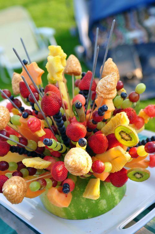 Mehndi Fruit Decoration : Fruit arrangements and summer treats on pinterest