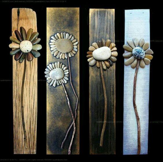 Piedras + maderas = cuadro