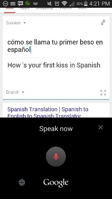 This was an accident on my spanish homework