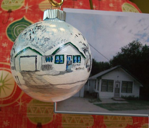 Custom Hand Painted Christmas Ornaments by ShirlsStudio on Etsy, $40.00