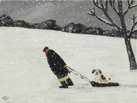 Gary Bunt | The Sledge - I think it's cruel In the Winter When a dog's paws Get cold and wet  So I told my master To buy me a sledge Or I would report  Him to the vet