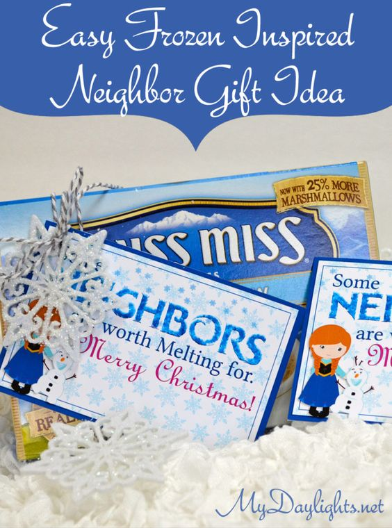 Easy Frozen inspired neighbor gift idea - are your neighbors worth melting for?