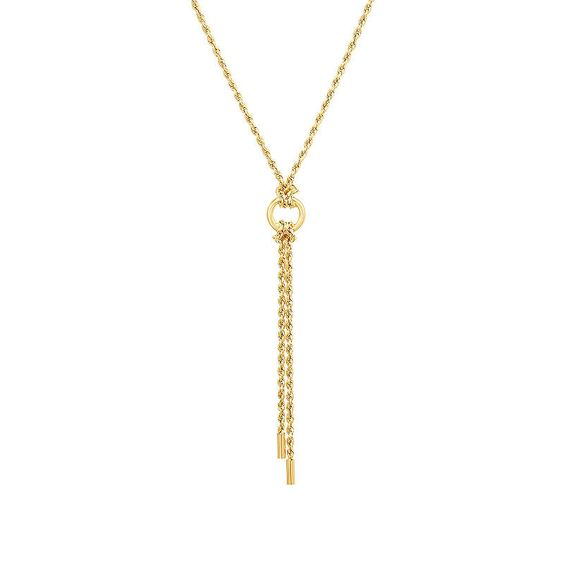 Womens 10k Gold Y Necklace 10k Gold Chain 10k Gold Necklace