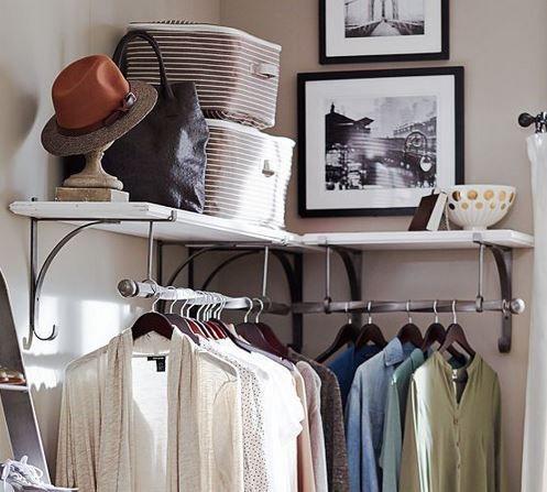 organizar ropa sin armario remedios caseros pinterest