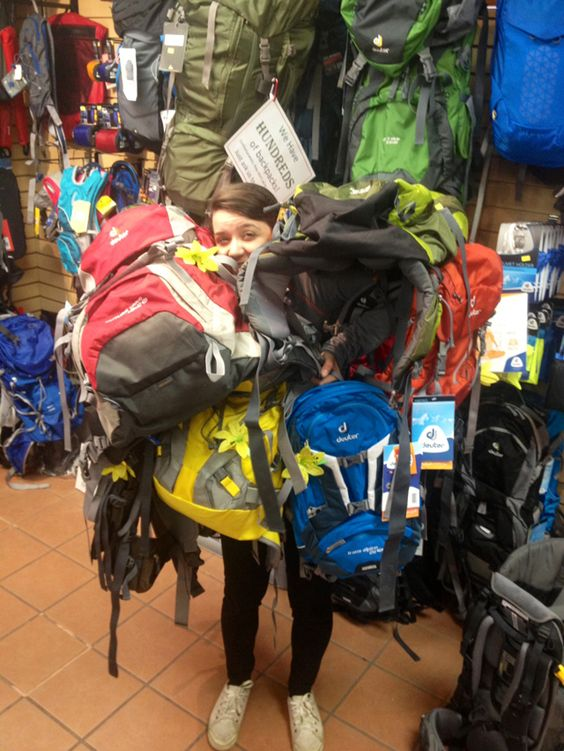 Meaghen's back hurts from all this weight! Help her and get a free womens #backpack from @deuterusa and @Active Junky