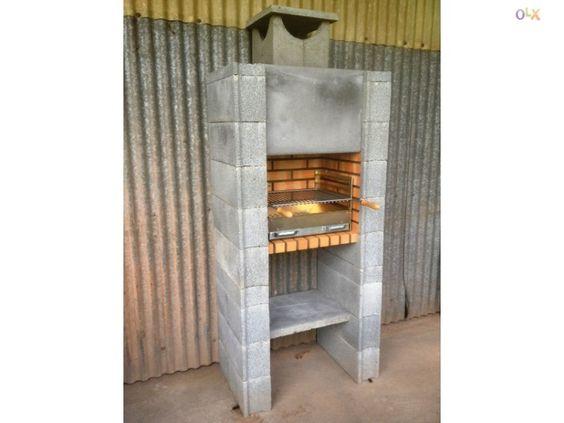 Churrasqueira exterior de tijolo matizado barbecue for Google banco exterior