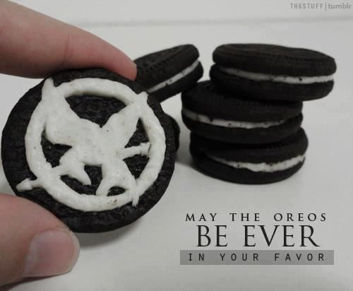 May the Oreos be ever in your favor.  #TheHungerGames The Hunger Games Oreos