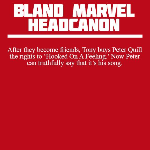 After they become friends, Tony buys Peter Quill the rights to 'Hooked On A Feeling.' Now Peter can truthfully say that it's his song.