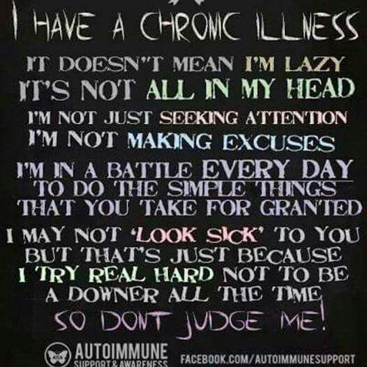 What a chronic illness does