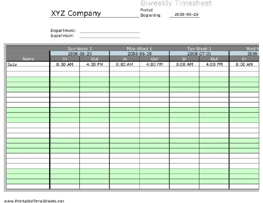 Driver Timesheet Printable Time Sheets, free to download and print - printable time sheet