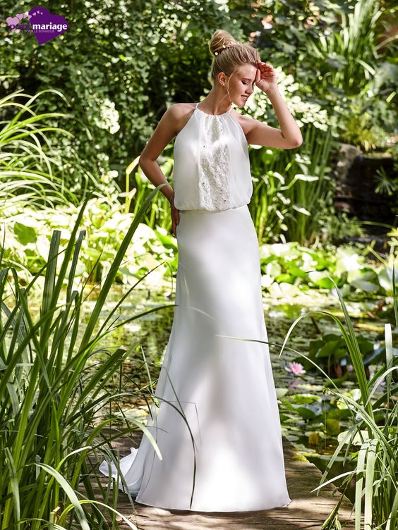 Robe de mariée Donata, robe de mariée esprit bohème chic, robe de mariage dos…