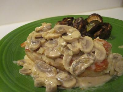 Update: i just made this for dinner and it was fantastic!  South Beach Diet: Chicken with Cremini Cream Sauce