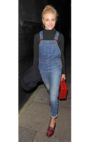 Not usually an overalls fan but Pixie Lott does it well