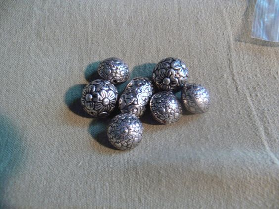 Tibetan silver beads by MarquisCreations on Etsy, $2.99