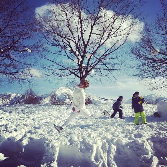 雪景色とおばたのお兄さん