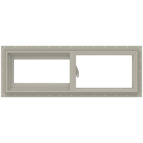 Jeld Wen V 2500 Left Operable Vinyl New Construction Desert Sand Exterior Sliding Window Rough Opening 36 In X 12 In Actual 35 5 In X 11 5 In Lowes Com In 2020 Sliding Windows Vinyl Sliding Windows Horizontal Sliding Windows
