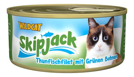 Skipjack - Thunfischfilet mit Grünen Bohnen. Der vitaminreiche Thunfisch-Snack von Healthfood24 #healthfood24 #wildcatkatzenfutter #katzennassfutter