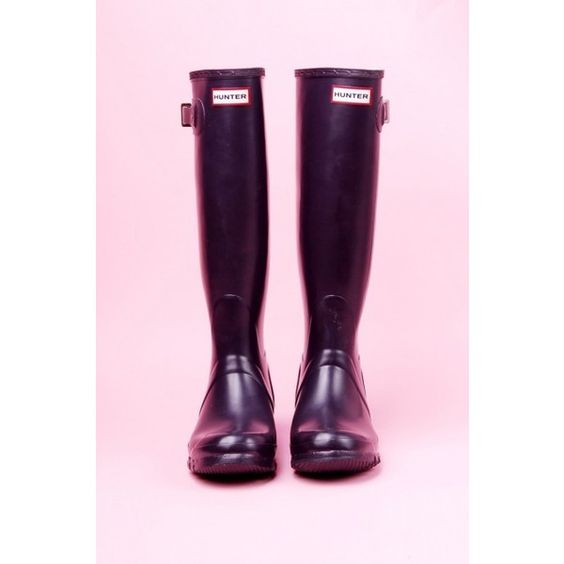 Hunter Original Tall Boot in Aubergine found on Polyvore