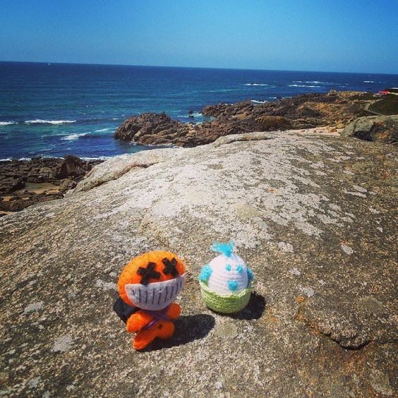 Junto al #mar... #CaminodeSantiago #peluches #pelucheando