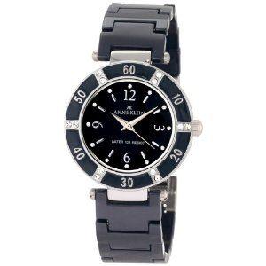 Anne Klein Women's 109417BMBL Swarovski Crystal Silver-Tone and Blue Ceramic Bracelet Watch (Watch)