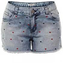 Shorts jeans com bordado poá desmond ds203 - jeans