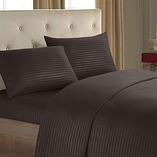 Pretty Lee 4 Pieces Polyester Bed Sheet Set Brushed Microfiber Bedding Duvet Cover Set Simple Solid Color Be Bed Sheet Sets Striped Bed Sheets Black Bed Sheets