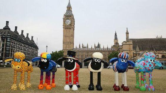 100 ovejas de colores invadirán Londres www.turismoeuropeo.es
