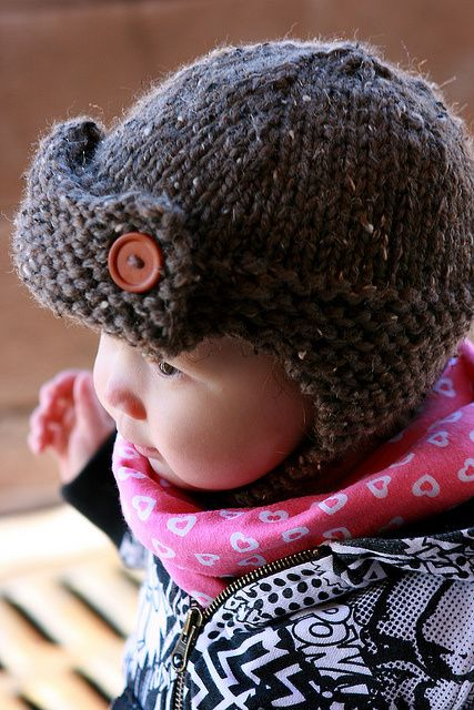 Aviator hat, Knitting patterns and Knitting on Pinterest
