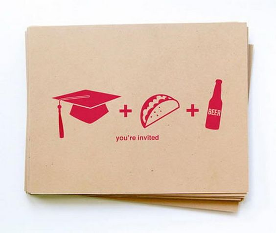 Graduation Party Invitation - 10  Creative Graduation Invitation Ideas, http://hative.com/creative-graduation-invitation-ideas/,
