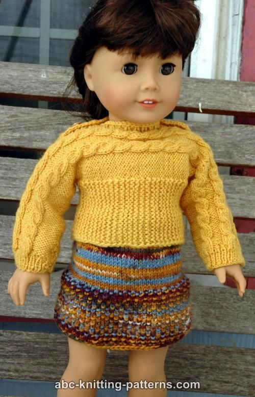 Free Knitting Patterns For Dolls Pinterest : Girl dolls, Free pattern and Knitting patterns on Pinterest