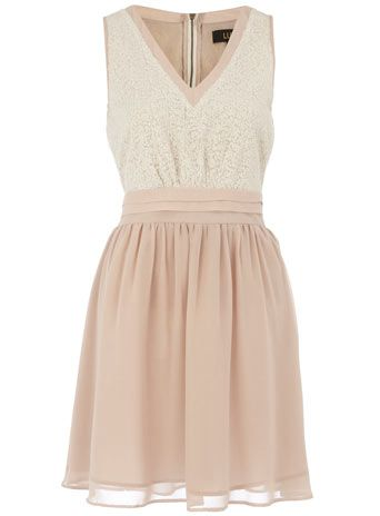 Ivory sequin bodice dress, Dorothy Perkins