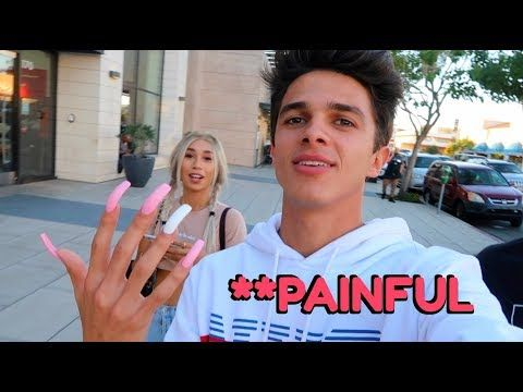 Wearing Long Acrylic Nails For 24 Hours W Mylifeaseva Brent Rivera Youtube Brent Rivera Long Acrylic Nails Mylifeaseva