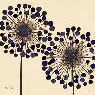 Simple design but great effect. Colours. Lilac Bubble Duo Reproduction d'art                                                                                                                                                      Plus