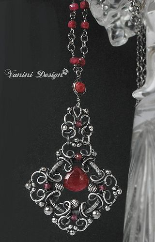 Medieval-Fine999/sterling silver,Rubies and Sapphires Necklace | Flickr - Photo Sharing!