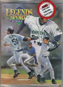 $9.99 - ICHIRO 2001 Legends Magazine Factory Sealed with Gold Foiled Collectible Insert Inside - FREE SHIPPING  Comes in factory plastic wrap, unopened, like brand new! With gold foiled insert inside!  FREE SHIPPING!