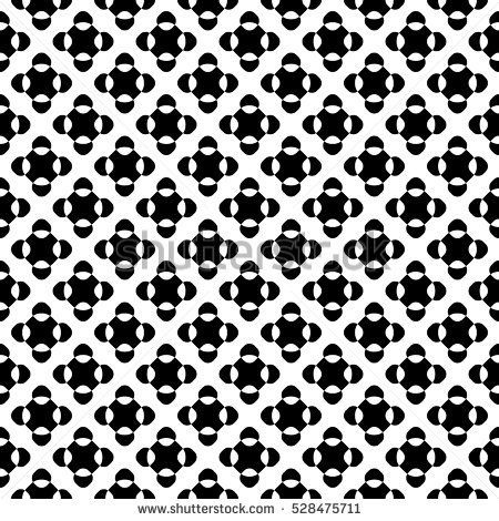 Vector seamless pattern, black & white crossing dots, simple geometric figures. Abstract repeat endless monochrome background. Design element for prints, decoration, stamping, digital, web, textile