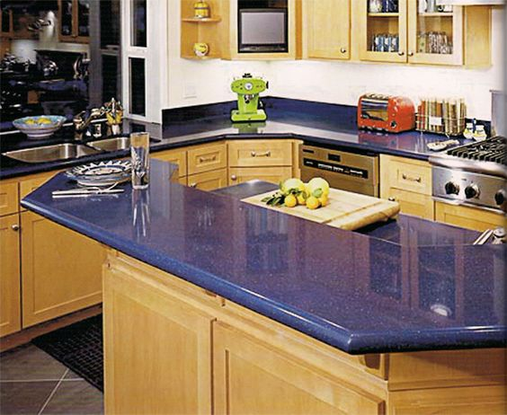 Stunning Blue Kitchen Countertops Pictures Images Best idea home