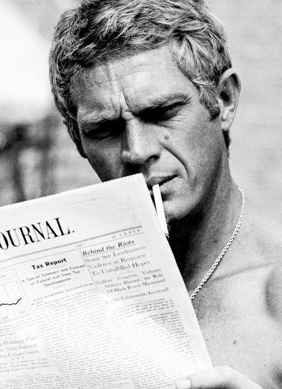 """ Steve McQueen photographed by Ron Thal, 1960s. """