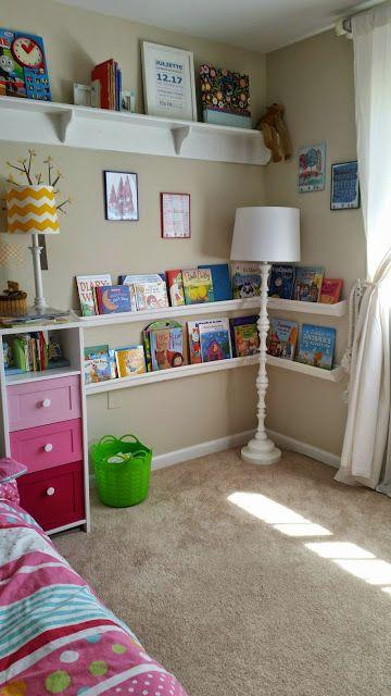 Kid's bedroom ideas. (Gutter bookshelves) Ideas para la habitación de niña.