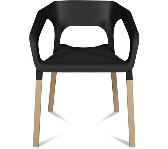 Lot De 2 Chaises Noir Kraft Carrefour 179 Les 2 Pour