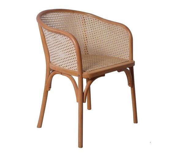 Barrel Cane Back Dining Armchair Set Of 2 Natural In 2020 Dining Arm Chair Wicker Dining Armchair Chair