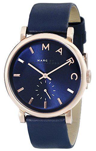 Marc Jacob Watches : Marc Jacobs MBM1329 36mm Stainless Steel Case Blue Calfskin Mineral Women's Watch - http://www.wegetmore.com/marc-jacob-watches-marc-jacobs-mbm1329-36mm-stainless-steel-case-blue-calfskin-mineral-womens-watch/
