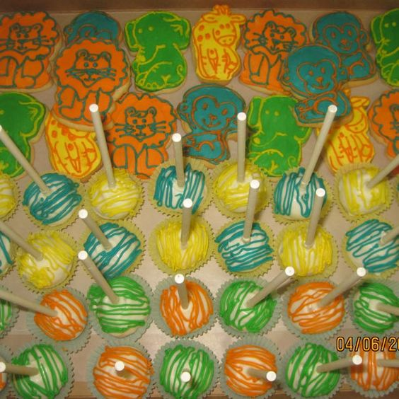 Cake Anatomy -Cake Pops and Animal Cookies