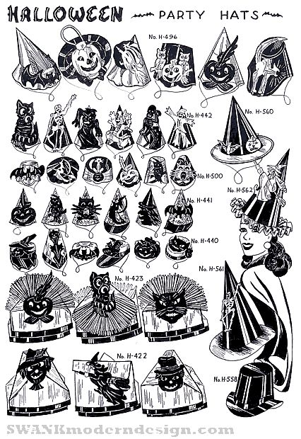 Vintage Halloween Party hats Halloween Party Hats Pinterest - halloween catalog