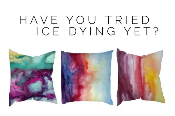 What a cool effect. Learn how to ice dye and create these fabulous pillows, or other decor items. #dying