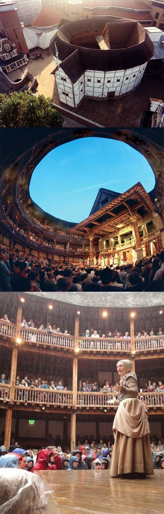 Erected in 1599, The Globe was London's first theater built by and for actors. This is the reconstruction - Shakespeare's Globe.