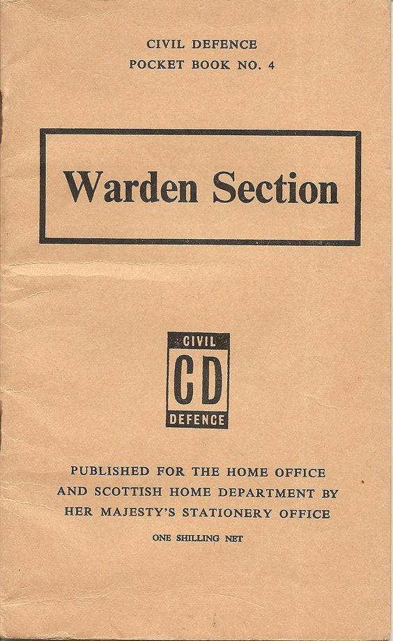Home Office1962u0027Civil Defence Pocket Book No4 Warden Section - civil summons form