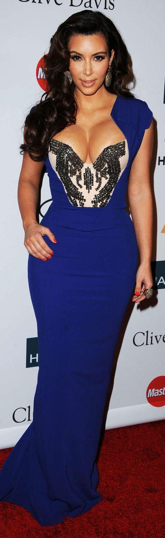 Kim Kardashian -blue -dress -sexy - Nikki/Angelica/Cari&-39-s ...